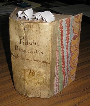 Sammelband mit 8 Werken: 1) Nobilis peccans.: Fritsch, Ahasver; hier:
