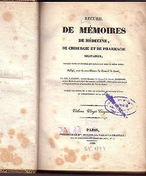 Recueil de mémoires de médecine, de chirurgie: Laubert / Estienne