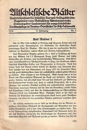 Altschlesische Blätter. Nachrichtenblatt für schlesische Vor- und: Altschlesische Blätter. -