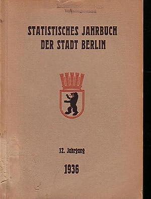 Statistisches Jahrbuch der Stadt Berlin. 12. Jahrgang: Büchner, Otto: