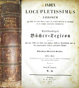 1847 -1852. - Index Locupletissimus Librorum Qui: Kayser, Christian Gottlob
