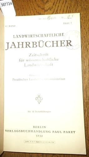 Landwirtschaftliche Jahrbücher. Zeitschrift für wissenschaftliche Landwirtschaft. Band: Landwirtschaftliche Jahrbücher. -