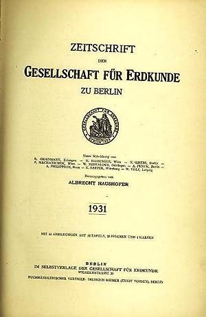 Zeitschrift der Gesellschaft für Erdkunde zu Berlin.: Zeitschrift der Gesellschaft