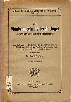 Die Staudenmerkmale der Kartoffel in ihrer sortensystematischen: Klapp, Ernst L.: