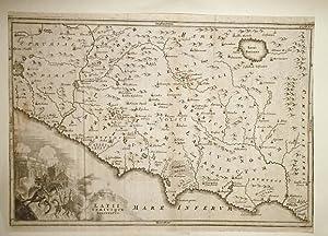 Kupfer-Stich einer Karte von Nordwest-Italien mit Rom.: Nord - Italien.