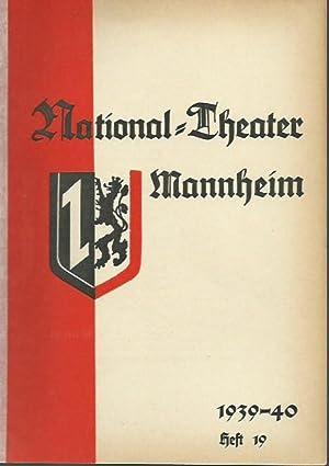 Programmheft zu 'Maske in Blau', Operette von: Mannheim. - National-Theater