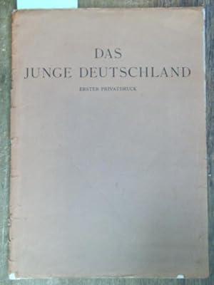 Das junge Deutschland - Phantasien über die: Junge Deutschland, Das.