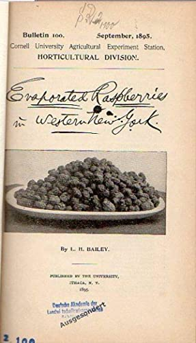Bailey, L. H.: Evaporated Raspberries in Western: Bailey, L. H.