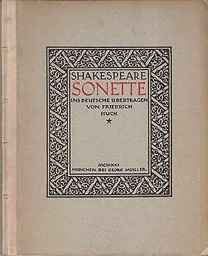 Sonette - Ins Deutsche übertragen von Friedrich Huch: Shakespeare, William:
