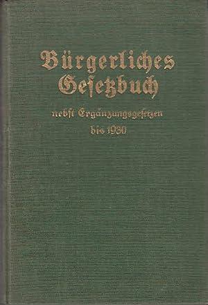Bürgerliches Gesetzbuch für das Deutsche Reich mit: Kemnitz, Georg (Hrsg.):