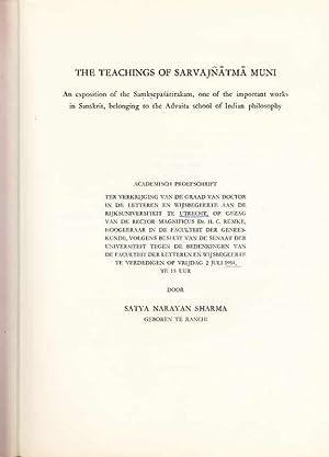 The teachings of Sarvajnatma Muni : An: Sharma, Satya Narayan: