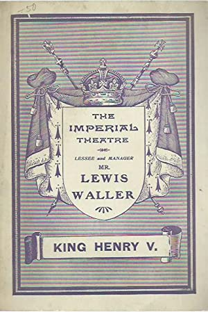 Programmheft / program booklet: King Henry V.: Imperial Theatre, the.