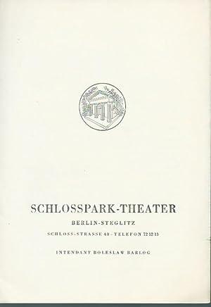 Programmheft zu: Ornifle oder Der erzürnte Himmel.: Schloßpark-Theater Berlin-Steglitz, -