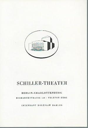 Programmheft zu: Wie es euch gefällt. Lustspiel.: Schiller-Theater, Berlin. -