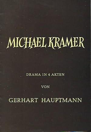 Programmheft zu: Michael Kramer. Drama in 4: Heinz Hoffmeister, Konzert-