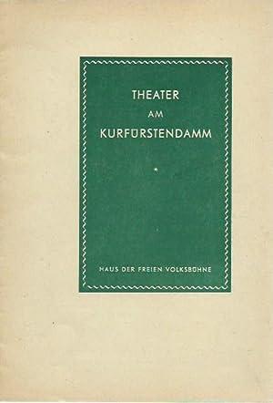 Programmheft zu: Liebelei. Schauspiel. Inszenierung: Rudolf Steinbeck.: Theater am Kurfürstendamm,