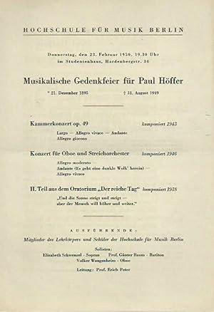 Konzert der Hochschule für Musik, Berlin am: Hochschule für Musik,