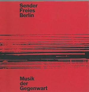 Programmheft zu: Musik der Gegenwart 29. Sender: Musik der Gegenwart.