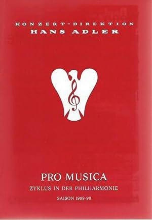 Programmheft zum Konzert von Jean-Pierre Rampal und: Pro Musica Zyklus