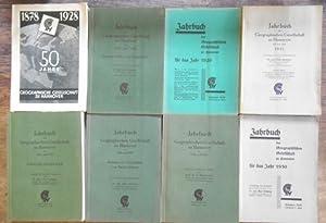 Konvolut aus 8 Bänden des Jahrbuch[es] der: Jahrbuch der Geographischen