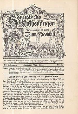 Heraldische Mittheilungen herausgegeben vom Verein 'Zum Kleeblatt.': Heraldische Mitteilungen. -