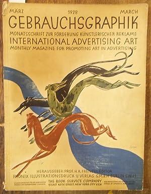 Gebrauchsgraphik 1928. Monatsschrift zur Förderung künstlerischer Reklame.: Gebrauchsgraphik. - Frenzel,