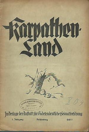 Karpathenland. Vierteljahresschrift für Geschichte, Volkskunde und Kultur: Karpatenland. - Erich