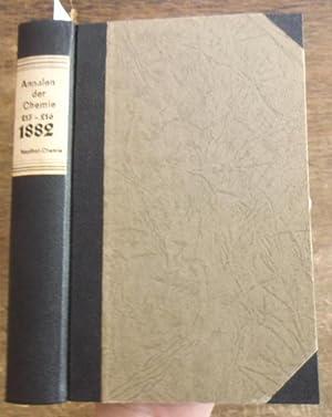 Justus Liebig's Annalen der Chemie 1882. Band: Annalen der Chemie