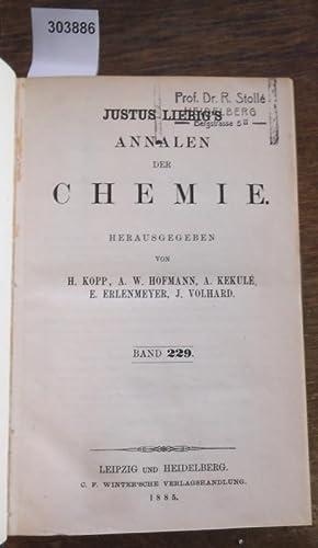 Justus Liebig's Annalen der Chemie 1885. Band 229 -230. Zwei Teile mit jeweils 3 Heften in ...