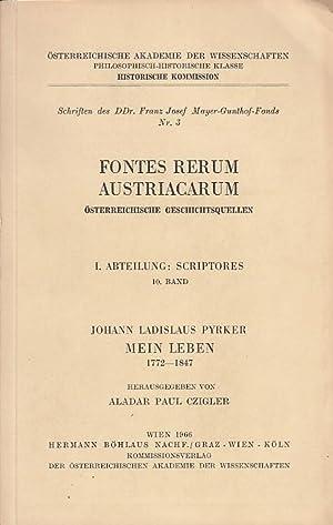 Johann Ladislaus Pyrker Mein Leben 1772 -: Pyrker, Johann Ladislaus