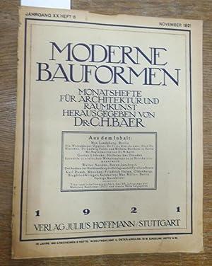 Moderne Bauformen. Jahrgang XX, Heft 6 /: Moderne Bauformen. -