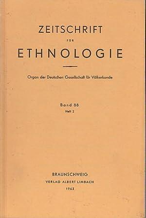 Zeitschrift für Ethnologie. Band 88, Heft 2,: Zeitschrift für Ethnologie.