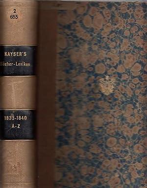 1833 -1840. - Novus Index Locupletissimus Librorum: Kayser, Christian Gottlob: