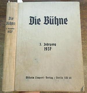 Die Bühne. Jahrgang 3, 1937. Komplett mit: Bühne, Die. -