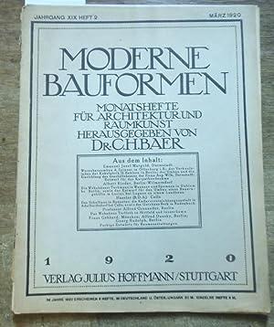Moderne Bauformen. Jahrgang XIX, Heft 2 /: Moderne Bauformen. -