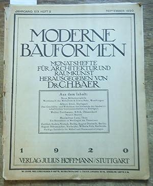 Moderne Bauformen. Jahrgang XIX, Heft 5 /: Moderne Bauformen. -