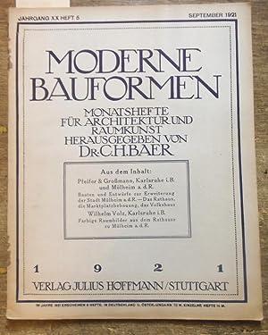 Moderne Bauformen. Jahrgang XX, Heft 5 /: Moderne Bauformen. -