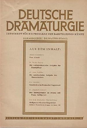 Deutsche Dramaturgie. Heft 1, Januar 1942, 1.: Deutsche Dramaturgie.- Walter