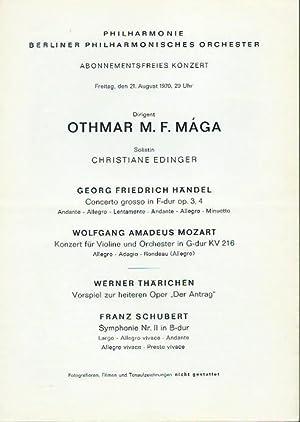 Abonnementsfreies Konzert vom 21. August 1970. Dirigent: Philharmonie, Berliner Philharmonisches