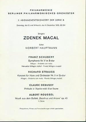 3. Abonnementskonzert der Berliner Philharmonie, Serie B: Philharmonie, Berliner Philharmonisches
