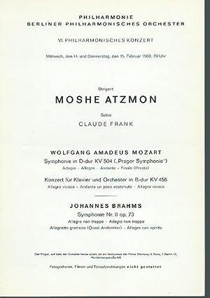 VI. Philharmonisches Konzert vom 14. und 15.: Philharmonie, Berliner Philharmonisches