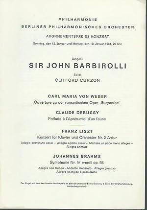Abonnementsfreies Konzert vom 12. und 13. Januar: Philharmonie, Berliner Philharmonisches
