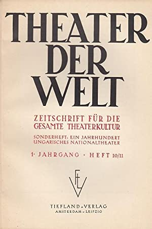 Theater der Welt. 1. Jahrgang, Heft 10/11,: Theater der Welt.