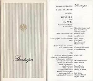 Staatsoper Wien. Saison (Jahr): 1980. GISELLE oder: Staats - Oper