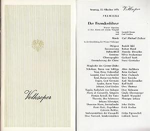 Volksoper Wien. Saison : 1978. Der Fremdenführer.: Volks - Oper