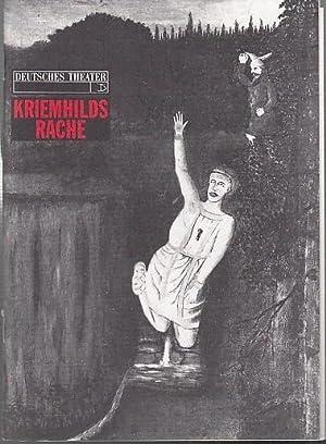 Kriemhilds Rache. Ein deutsches Trauerspiel. Regie : Friedrich Hebbel. Deutsches