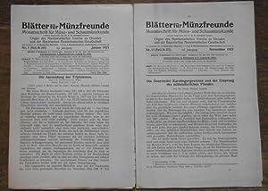 Blätter für Münzfreunde. 62. Jahrgang 1927 komplett: Blätter für Münzfreunde.