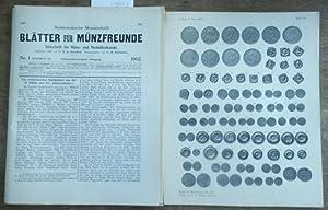 Blätter für Münzfreunde. Siebenunddreissigster ( 37.) Jahrgang: Blätter für Münzfreunde.