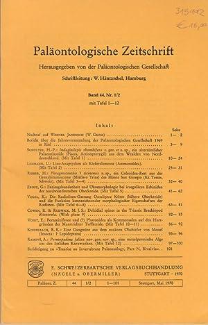 Paläontologische Zeitschrift. Band 44, Nr. 1/2 mit: Paläontologische Zeitschrift. -