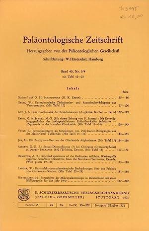 Paläontologische Zeitschrift. Band 45, Nr. 3/4 mit: Paläontologische Zeitschrift. -